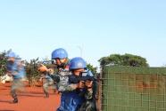 中国第九批赴南苏丹维和工兵组织防卫演练