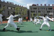 体育课成展演,增强体质靠后站?