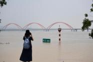 湘江长沙段水位持续暴涨